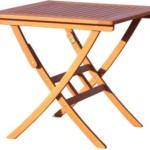 Balkon- / Gartentisch, Eukalyptusholz, FSC-zertifiziert, eckig, klappbar