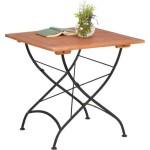 Balkontisch / Gartentisch, Eukalyptusholz / Metall, klappbar, platzsparend, leichter Aufbau, eckig