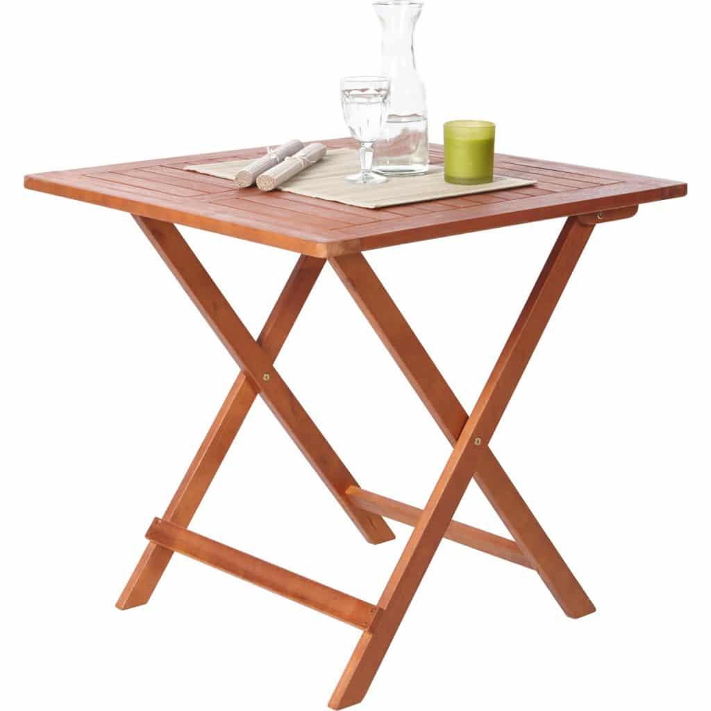 Balkonklapptisch  Balkon- / Gartenklapptisch, Eukalyptusholz (FSC-Zertifiziert), Braun ...