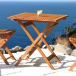 Balkontisch, Eukalyptusholz, FSC-zertifiziert, eckig, klappbar