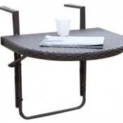 Balkonhängetisch, Aluminium / Kunststoff, höhenverstellbar, leicht zu reinigen,