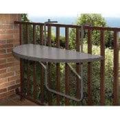 Balkonhängetisch, Kunststoff, platzsparend, leicht zu reinigen, zum einhängen