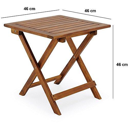 Beistelltisch akazienholz natur 46x46x46cm von deuba - Petite table basse pliante ...