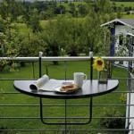 Balkonhängetisch, Kunststoff, klappbar, platzsparend, leicht zu reinigen, höhenverstellbar